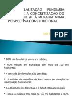 A regularização fundiária urbana e a conccretização do direito social à moradia
