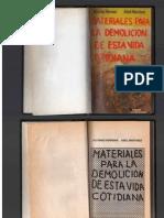 Materiales Para La Demolicion de Esta Vida Cotidiana p1