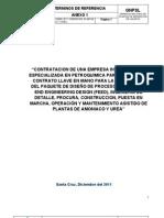 Terminos de Referencia Amoniaco y Urea