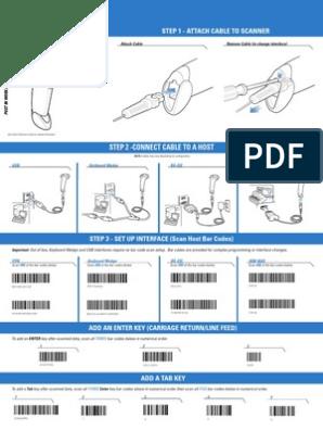 SYMBOL LS2208 - Quick Start Guide   Barcode