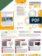 CAMON-Madrid. Programación de Febrero 2013. Obra Social. Caja Mediterráneo