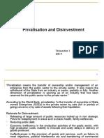 Privatization & Disinvestment's