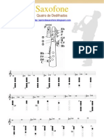 digitação - saxofone - quadro de dedilhado - aprenda saxofone