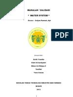 Makalah k.water System