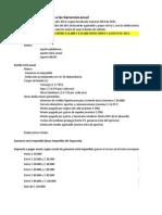 Calculo Impuesto a las Ganancias. Año 2013