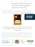 Indo-European Etymological Dictionary - Indogermanisches Etymologisches Woerterbuch (J. Pokorny)