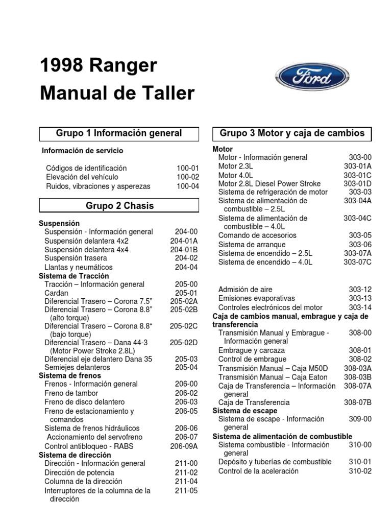 Manual Ford Ranger Espa U00f1ol 98