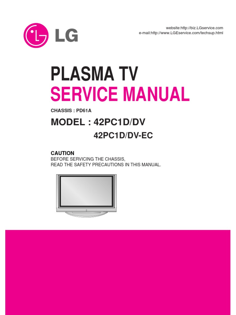lg 42pc1d service manual rh scribd com AT&T Wireless Service Studio Works Women's Clothing