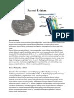 Baterai lithium dan nikel