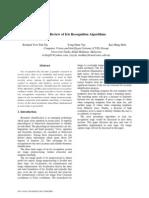 A Review of Iris Recognition Algorithms