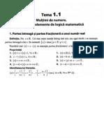 Bac - Formule pentru Subiectul 1 (M1)