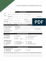 km - membership form