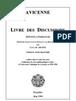 "Avicenne, ""Livre des Discussions"". Mubâḥatha I"