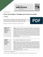 Efectos farmacológicos y fisiológicos del consumo de cannabis.