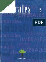 Revista Umbrales5. Revista Del Postgrado en Ciencias Del Desarrollo CIDES UMSA. La Paz Bolivia