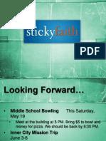 Lesson 9- Our Sticky Faith Journey