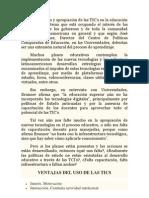 La inclusión y apropiación de las TIC