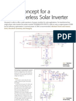 design concept of transformerless solar inverter