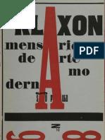 Klaxon Mensario de Arte Moderna n 8 n 9