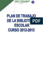 Plan de Trabajo de La Be-crea Leolancia 2012-2013