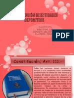 CONSTITUCIÓN DE ENTIDADES DEPORTIVAS