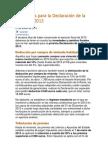 Novedades para la Declaración de la Renta de 2013