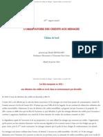 L'Observatoire des crédits aux ménages - janvier 2013