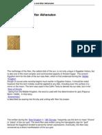 Aten Before and After Akhenaten