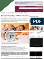 Besser einschlafen - Tipps und Tricks für Ruhelose