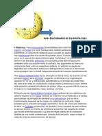 Wiki Diccionario de Filosofía 2013. La más actual.