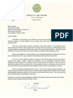 Rahm Emanuel Letter to Brian Gaffney of Allianz Asset Management
