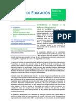 Informe de Educación de Instituto de Investigación para el Desarrollo y la Defensa Nacional (Iniden) Mes de enero 2013
