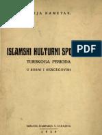 Alija Nametak Islamski Kulturni Spomenici