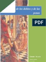 Tratado de Los Delitos y de Las Penas - Cesar Becaria - 2003