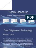 Rocky Research Risk Reduction in Venture Analysis and Evaluation