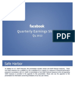 Facebook Q4 2012 Investor Slide Deck