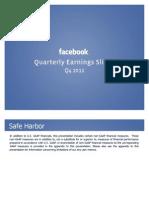Facebook Q4 2012 Investor Slide Deck