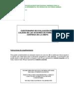 Modelo de cuestionario de evaluacion a Docentes Capacitados