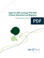 Sage Pro ERP and Sage PFW ERP Product Retirement and Migration - Frequently Asked Questions