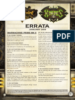 WM MKII Rules Errata Jan 2013