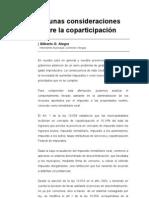 Algunas consideraciones sobre la coparticipación (Gilberto O. Alegre, Intendente Municipal de General Villegas)