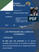 Las Provisiones Del Ejercicioo - Final