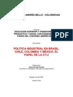 Politicas industriales en Brasil Chile, Colombia y México. CAB Colciencias. Jaime Acosta