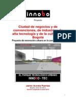 Ciudad Innobo Bogotá y el parque tecnológico urbano Innobo - Tec.
