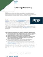 Regolamento Global Impact Competition 2013