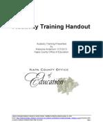 Audacity Training Handout