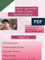Dolor, Fisiopatologia