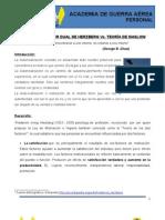 TEORÍA DEL FACTOR DUAL DE HERZBERG Vs TEORÍA DE MASLOW