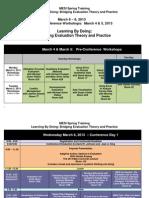 MESI Spring Training Schedule- Updated Feb.22.2013