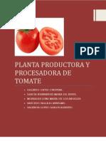 Planta Procesadora de Pure de Tomate